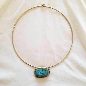 Urban Outfitters Turquoise Pendant Choker